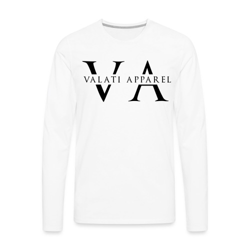 VA Strikethrough - Men's Premium Long Sleeve T-Shirt