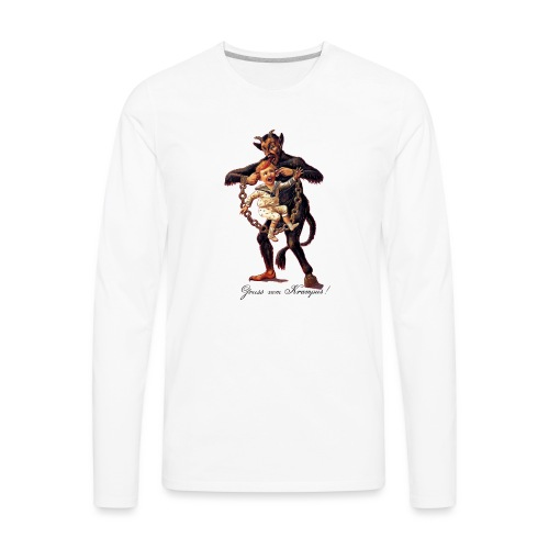 Gruss vom (Greetings From) Krampus - Men's Premium Long Sleeve T-Shirt