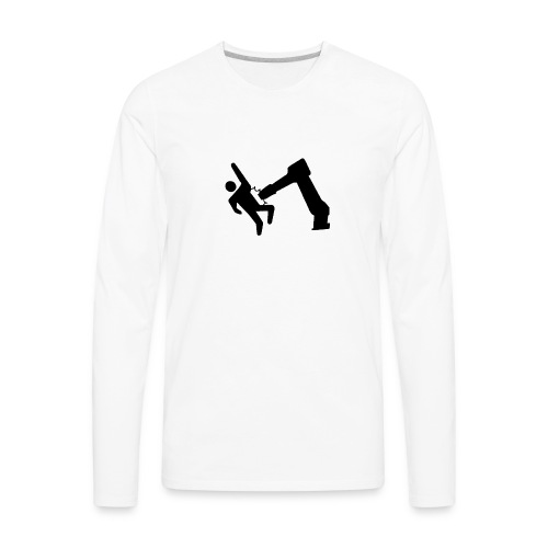 Robot Wins! - Men's Premium Long Sleeve T-Shirt