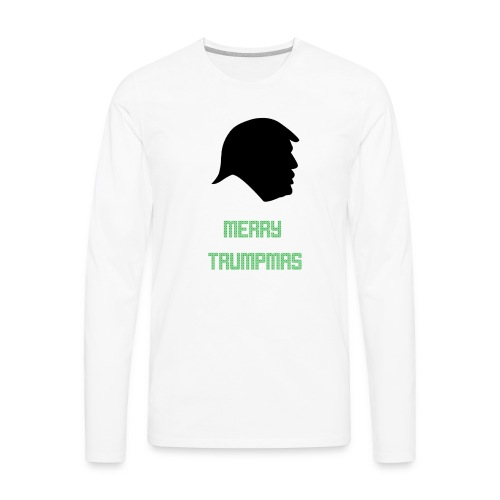 Merry Trumpmas Green - Men's Premium Long Sleeve T-Shirt