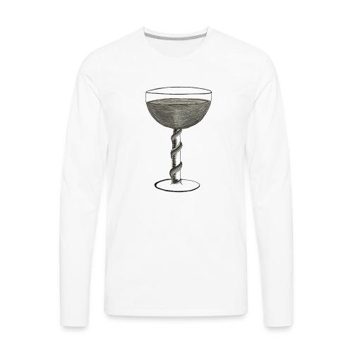 Wine glass - Men's Premium Long Sleeve T-Shirt