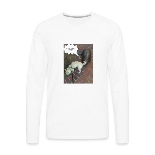 Naughty lil beaver - Men's Premium Long Sleeve T-Shirt