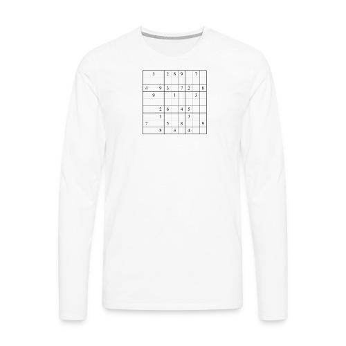 Sudoku - Men's Premium Long Sleeve T-Shirt