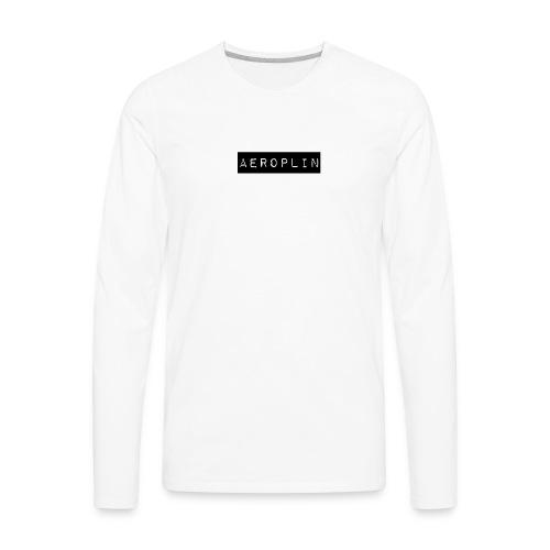 Aeroplin Merch Logo - Men's Premium Long Sleeve T-Shirt