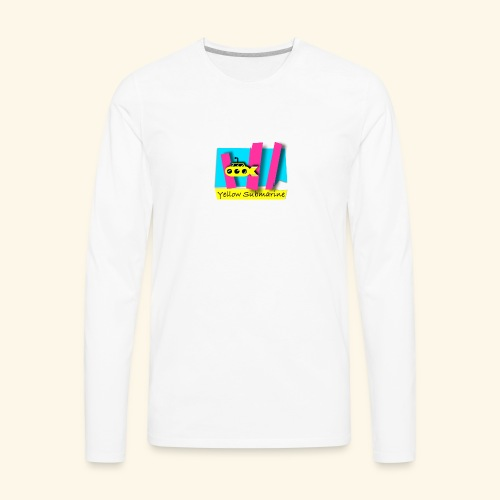 Yellow Submarine-CMKY - Men's Premium Long Sleeve T-Shirt