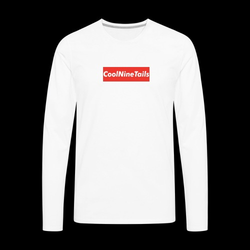 CoolNineTails supreme logo - Men's Premium Long Sleeve T-Shirt