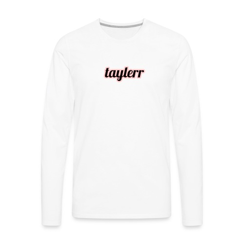 Taylerr Brand Bold Logo // 2nd collection // - Men's Premium Long Sleeve T-Shirt