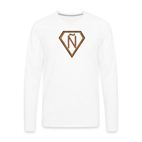 Ñ Orange - Men's Premium Long Sleeve T-Shirt