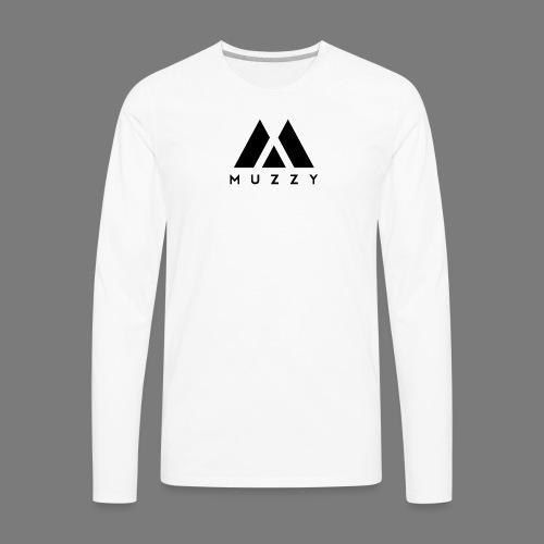 MUZZY Offical Logo Black - Men's Premium Long Sleeve T-Shirt