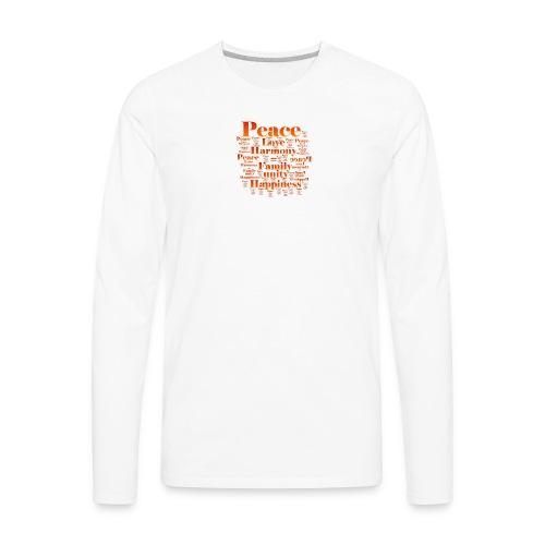 PEACE LOVE HARMONY - Men's Premium Long Sleeve T-Shirt