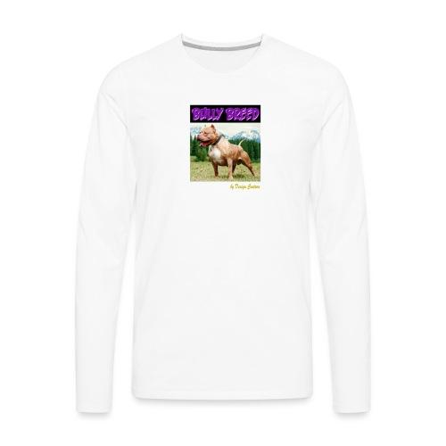 BULLY BREED PURPLE - Men's Premium Long Sleeve T-Shirt