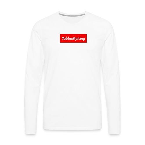 Yabba My Icing Supreme Logo - Men's Premium Long Sleeve T-Shirt