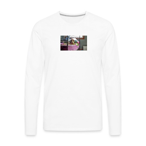 Sady laing on the bed - Men's Premium Long Sleeve T-Shirt