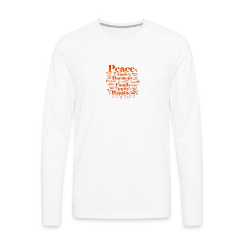 PEACE LOVE HARMONY - Men's Premium Long Sleeve T-Shirt