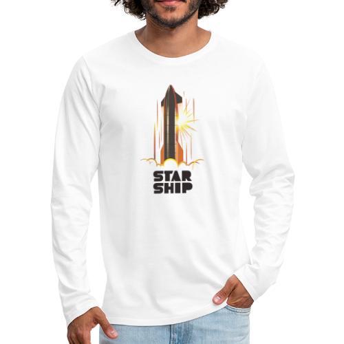 Star Ship Mars - Light - Men's Premium Long Sleeve T-Shirt