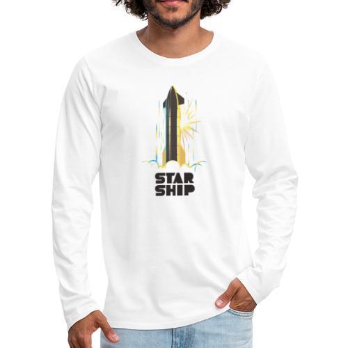 Star Ship Earth - Light - Men's Premium Long Sleeve T-Shirt
