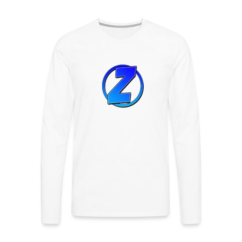 Blue Ziffy logo Shirt - Men's Premium Long Sleeve T-Shirt