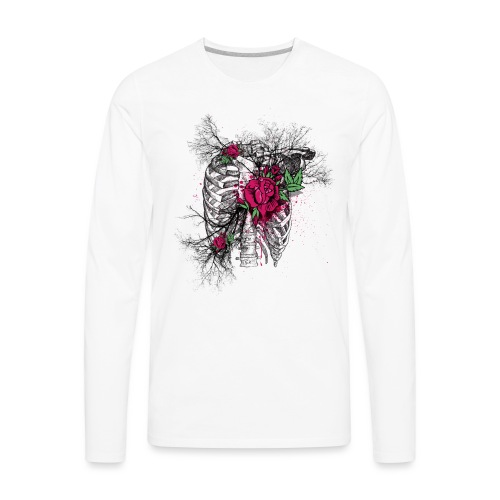Skeleton Rose - Men's Premium Long Sleeve T-Shirt