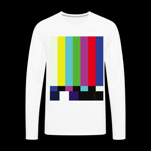 This is a TV Test | Retro Television Broadcast - Men's Premium Long Sleeve T-Shirt