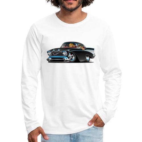 Classic hot rod fifties muscle car - Men's Premium Long Sleeve T-Shirt