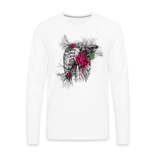 Skeleton Rose - Men's Premium Long Sleeve T-Shirt