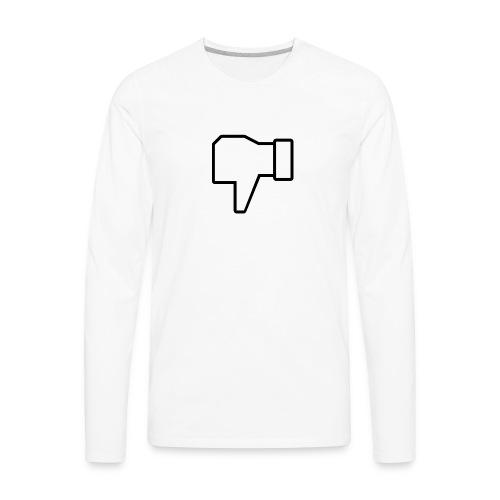 thumbs down - Men's Premium Long Sleeve T-Shirt