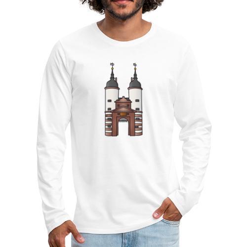 Bridge gate Heidelberg, FRG - Men's Premium Long Sleeve T-Shirt