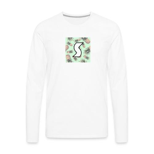 Scorch Pineapple Logo Design - Men's Premium Long Sleeve T-Shirt
