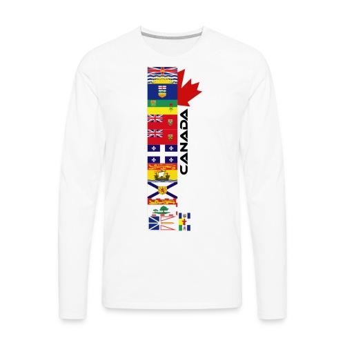 Canadian Provinces - Men's Premium Long Sleeve T-Shirt
