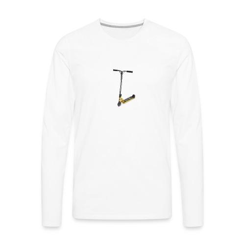 gold scooter - Men's Premium Long Sleeve T-Shirt