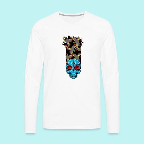 90s KID SKULLY - Men's Premium Long Sleeve T-Shirt
