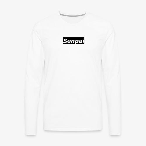 Senpai Plain Black - Men's Premium Long Sleeve T-Shirt