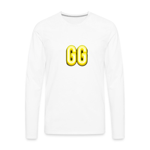 gg golden gamer logo - Men's Premium Long Sleeve T-Shirt