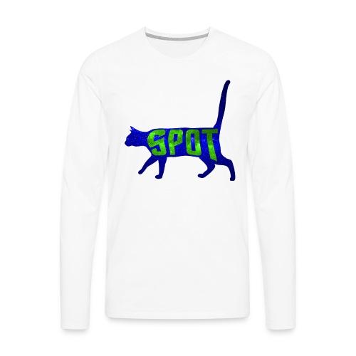 Data's Cat Spot (Blue and Green) - Men's Premium Long Sleeve T-Shirt