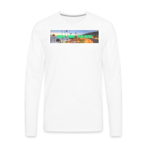 Laugh, Smile, play music clothing line - Men's Premium Long Sleeve T-Shirt
