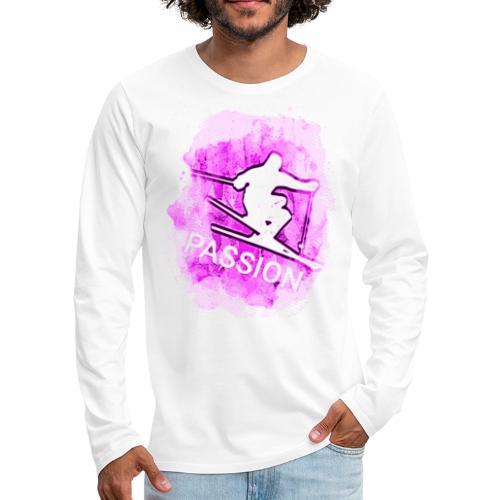 Pink Passion Winter Sport Skiing Schifahren 2rebor - Men's Premium Long Sleeve T-Shirt
