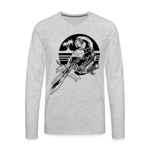 Tropical Parrot - Men's Premium Long Sleeve T-Shirt