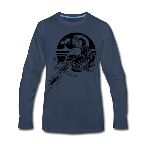 Tropical Parrot - Men's Premium Long Sleeve T-Shirt