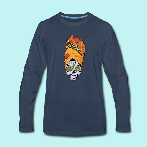 ERYKAH BADU SKULLY - Men's Premium Long Sleeve T-Shirt
