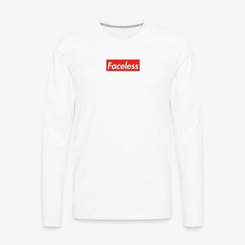 Faceless - Men's Premium Long Sleeve T-Shirt
