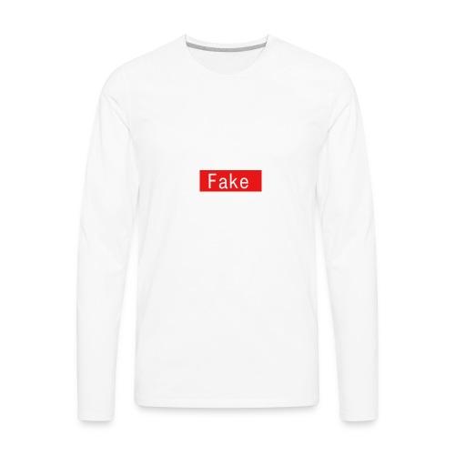 Fake By Clean Finish - Men's Premium Long Sleeve T-Shirt