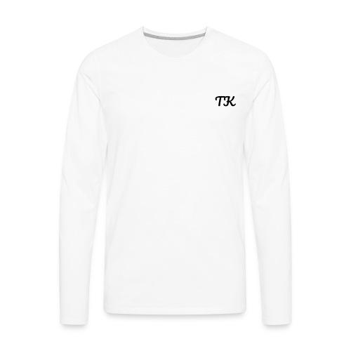 Thom Kenobi clothing TK initials in pacifico font - Men's Premium Long Sleeve T-Shirt