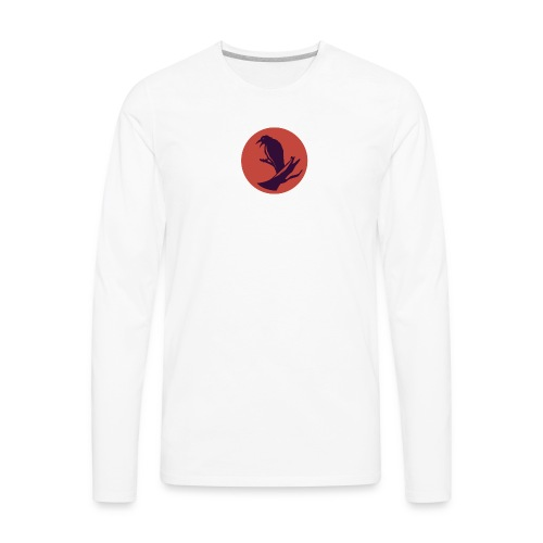0d648f1f545ad913c20d7d6447d43449 raven circle icon - Men's Premium Long Sleeve T-Shirt