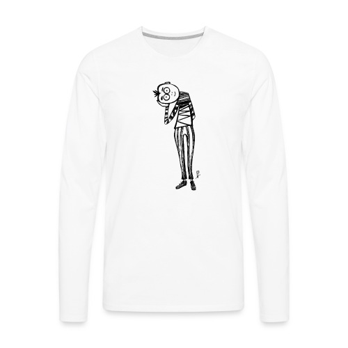 point of view black and white - Men's Premium Long Sleeve T-Shirt