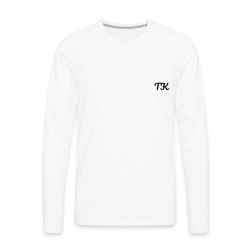 Thom Kenobi clothing TK initials in pacifico font - Men's Premium Long Sleeve T-Shirt