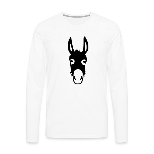 donkey mule horse muli pony - Men's Premium Long Sleeve T-Shirt