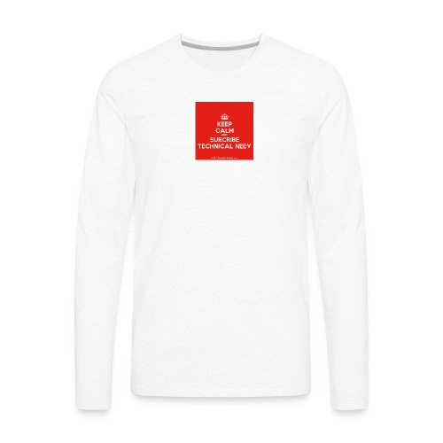 KeepCalm red and white edition - Men's Premium Long Sleeve T-Shirt