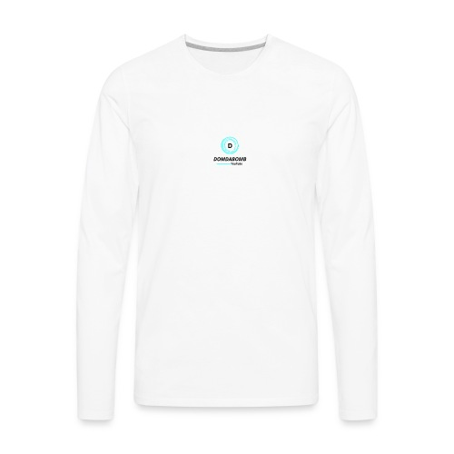 Lit DomDaBomb Logo For WHITE or Light COLORS Only - Men's Premium Long Sleeve T-Shirt