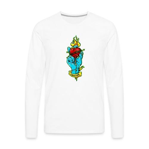 hand holding heart - Men's Premium Long Sleeve T-Shirt