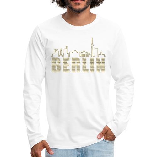 Skyline of Berlin - Men's Premium Long Sleeve T-Shirt
